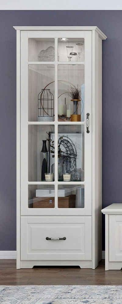 Home affaire Glasvitrine »Evergreen« UV lackiert, Tür mit Sicherheitsglas 4 mm, mit Soft-Close-Funktion