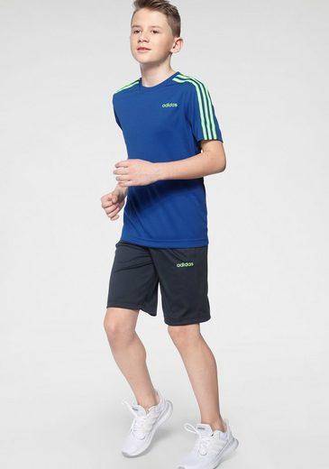 adidas Performance T-Shirt & Shorts »YOUTH BOYS TRAINING 3 STRIPES SET« (Set, 2-tlg)