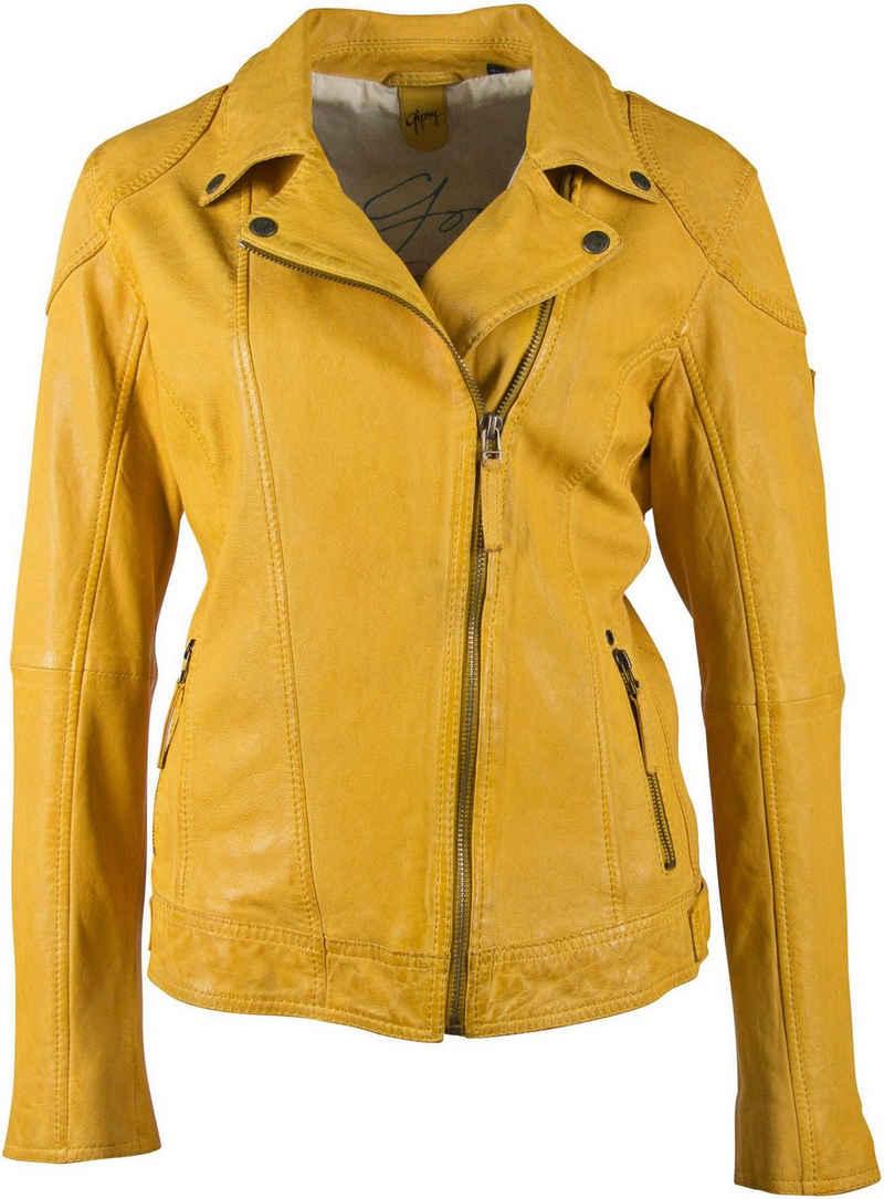 Gipsy Lederjacke »Shakee« im Biker-Look aus hochwertigem Lammnappaleder