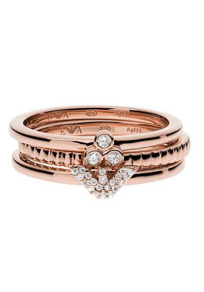 Emporio Armani Ring-Set »EG3485221« (Set, 3-tlg), mit Zirkonia
