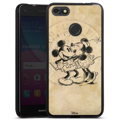 DeinDesign Handyhülle »Minnie&Mickey« Huawei Y6 Pro (2017), Hülle Mickey Mouse Offizielles Lizenzprodukt Minnie Mouse