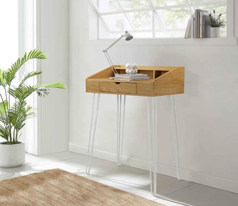 COUCH♥ Stehpult »In Höchstform«, Beine aus Metall, 1 Schublade, Breite 90 cm
