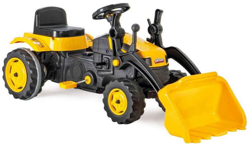 Siva Spielzeug-Traktor »Kindertraktor Gelb Trettraktor mit Schaufel Pedale«