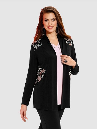 m. collection Shirtjacke mit Mesh-Einsätzen