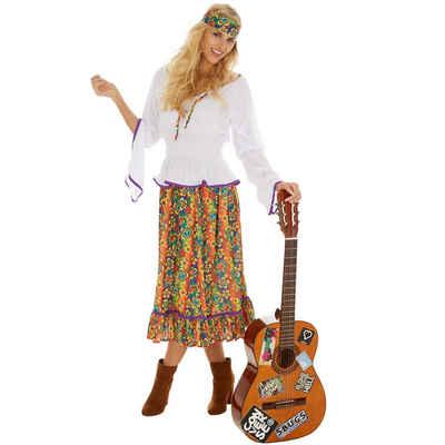 dressforfun Hippie-Kostüm »Frauenkostüm Lady Love & Peace«
