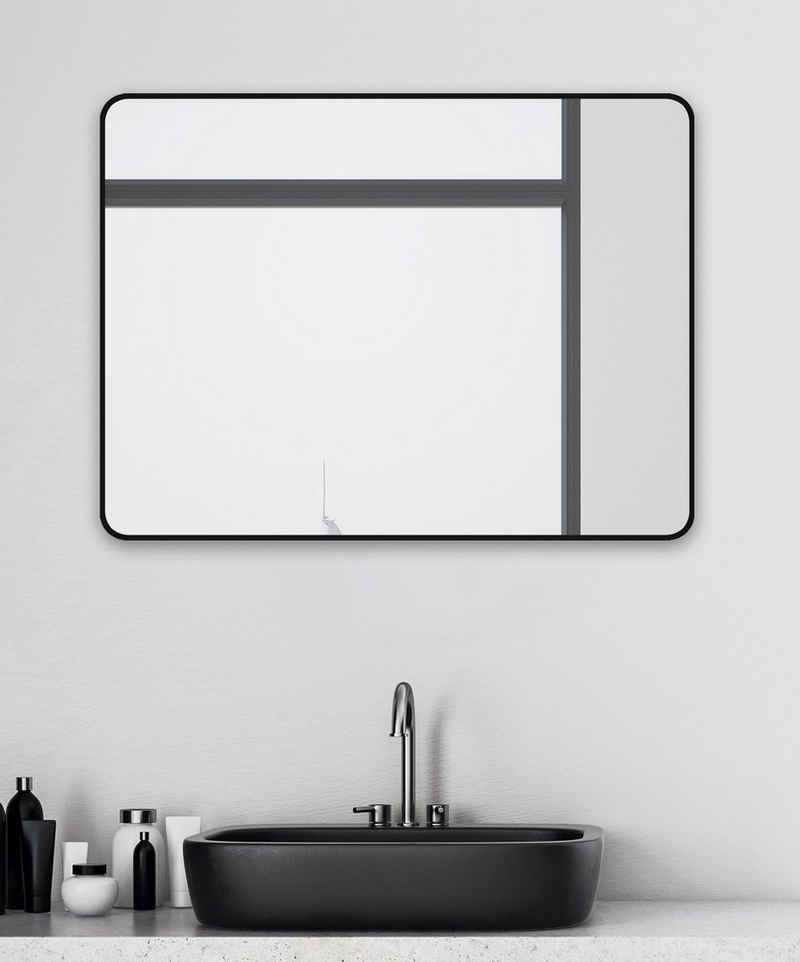 Talos Wandspiegel »Black Living« (Komplett-Set), BxH: 80x60 cm