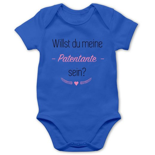 Shirtracer Shirtbody »Willst du meine Patentante sein? Herz - Baby Body Kurzarm - Strampler & Bodies« Strampler Motive