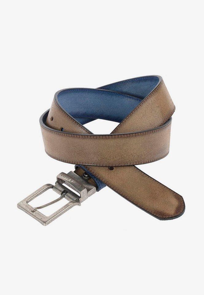 cipo & baxx -  Ledergürtel im eleganten Design