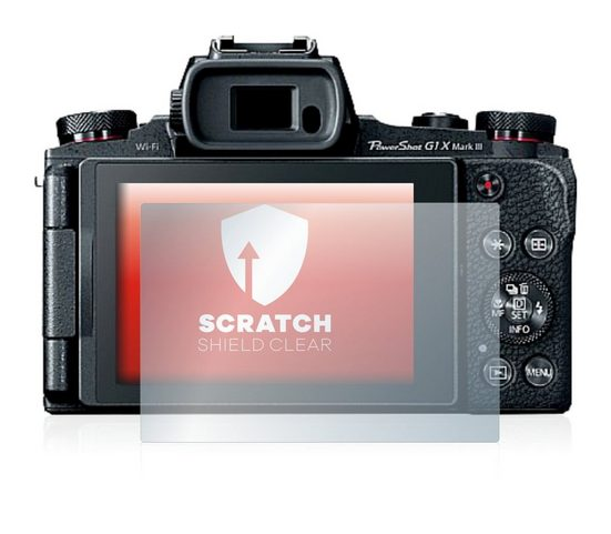 upscreen Schutzfolie »für Canon PowerShot G1 X Mark III«, Folie Schutzfolie klar anti-scratch