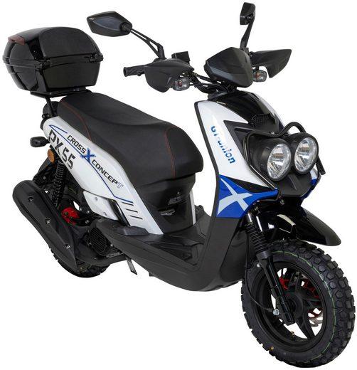 GT UNION Motorroller »PX 55 Cross-Concept«, 125 ccm, 85 km/h, Euro 4, inkl. Topcase