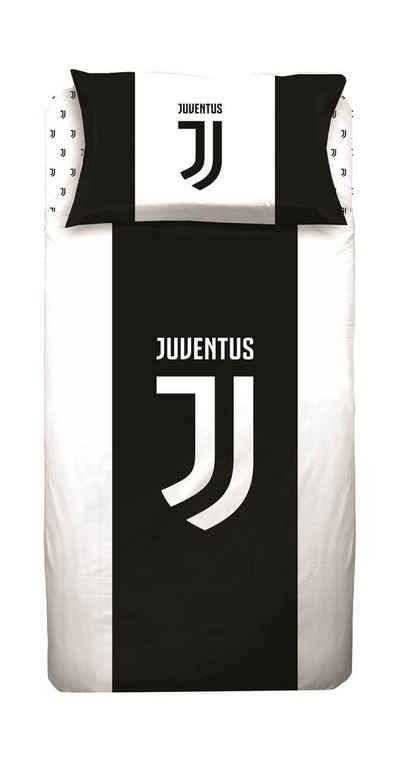 Bettwäsche »Juventus Turin - Fußball-Bettwäsche-Set, 135x200 & 80x80 cm«, Juventus Turin, 100% Baumwolle