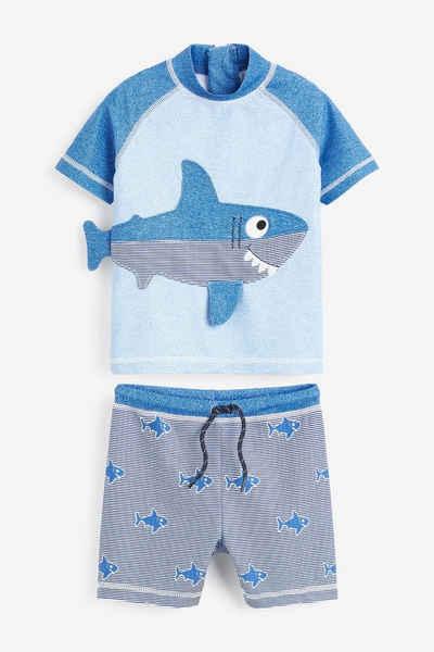 Next Badeanzug »2-teiliger Sonnenschutzanzug im Haifisch-Design« 2 Stück