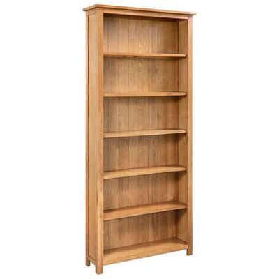 vidaXL Bücherregal »vidaXL Bücherregal 6 Fächer 80×22,5×170 cm Massivholz Eiche«