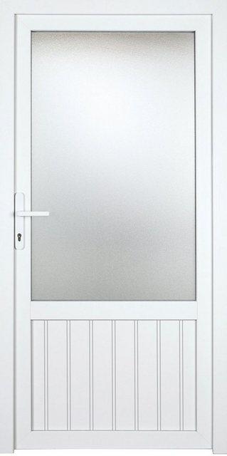 KM MEETH ZAUN GMBH Nebeneingangstür »K707P«, BxH: 108x208 cm cm, weiß, rechts | Baumarkt > Modernisieren und Baün | KM Zaun