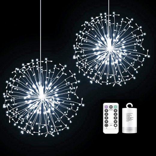 TOPMELON Lichterkette, LED Weihnachtslichtkette, mit Timing-Funktion, Wasserdicht, Batteriebetrieben