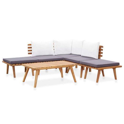 vidaXL Gartenmöbelset »vidaXL 6-tlg. Garten-Lounge-Set Massivholz Akazie«