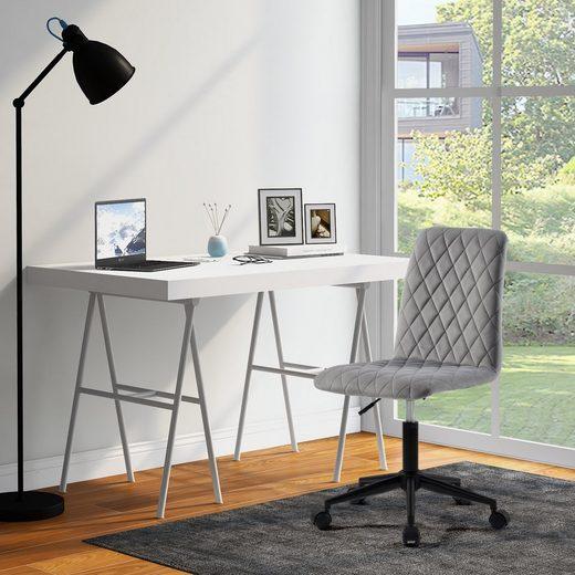 Masbekte Chefsessel, Samt Bürostuhl Schreibtischstuhl Computerstuhl Arbeitsstuhl Drehstuhl Verstellbare Höhe für Wohnung und Büro