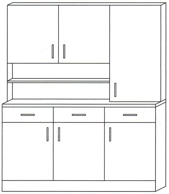 Vitrinen und Schränke - Wiho Küchen Küchenbuffet »Lausanne«, Breite 150 cm  - Onlineshop OTTO
