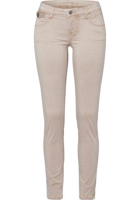 Hosen - BLUE FIRE 5 Pocket Hose »ALICIA« mit hohen Komfort durch Elasthan Anteil › gelb  - Onlineshop OTTO