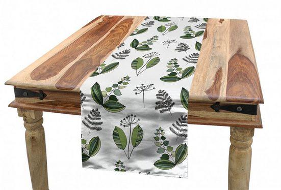 Abakuhaus Tischläufer »Esszimmer Küche Rechteckiger Dekorativer Tischläufer«, skandinavisch Frische Blühende Pflanzen