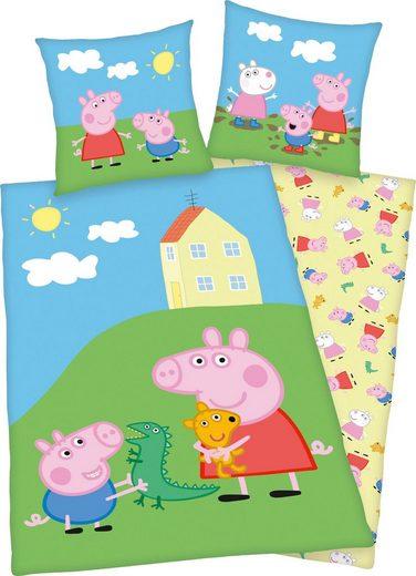 Kinderbettwäsche »Peppa Pig«, Peppa Pig, mit niedlichem Motiv