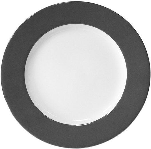 Fink Platzteller Moments, Set, 4-tlg., Ø 30 cm, Porzellan mit Platinumrand