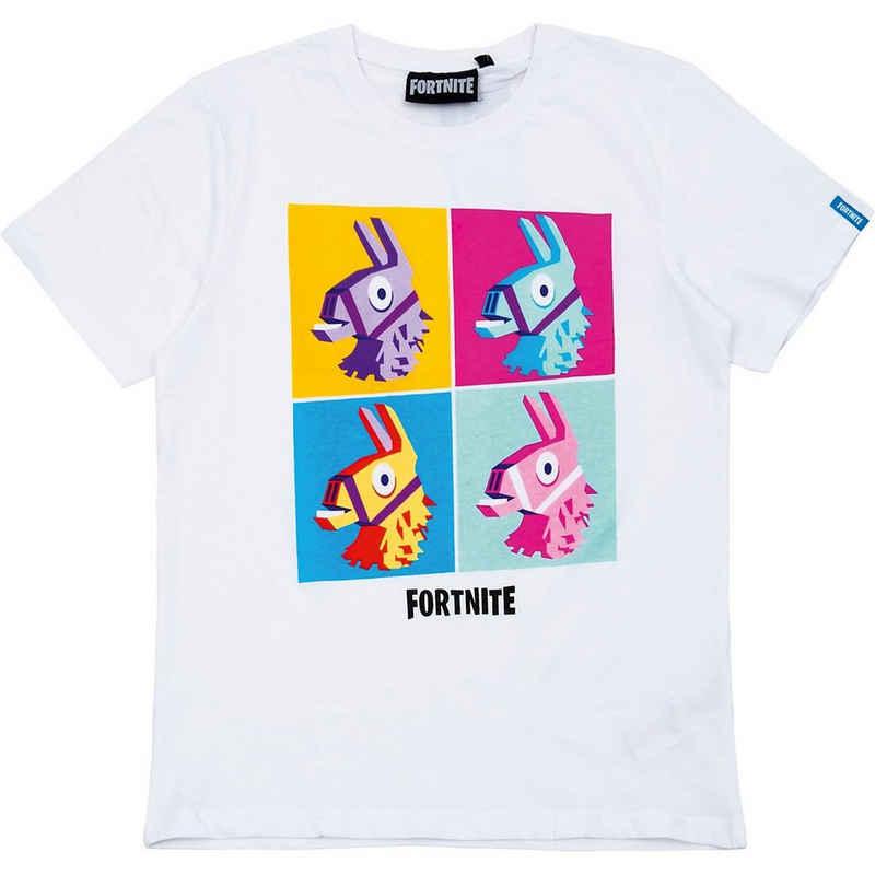 Fortnite T-Shirt »T-Shirt Kids Print Lama White 176cm«