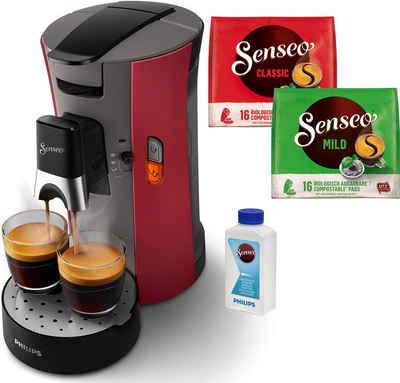 Senseo Kaffeepadmaschine Select CSA240/90, inkl. Gratis-Zugaben im Wert von € 14,- UVP