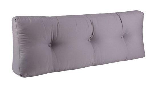 BioKinder - Das gesunde Kinderzimmer Sitzkissen, Rückenkissen 120x40 cm Grau