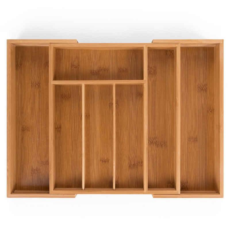 Blumtal Besteckkasten »Schublade aus Bambus - größenverstellbarer Schubladen-Einsatz, bis zu 9 Fächer«