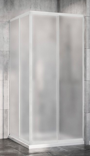 Duschen und Zubehör - Red Shark Eckdusche »Multi Duschkabine Eckeinstieg«, Acrylglas, variabler Verstellbereich 80 90cm, alu  - Onlineshop OTTO