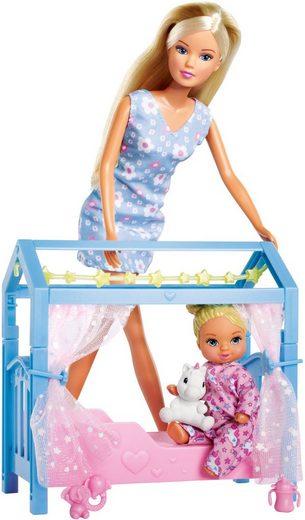 SIMBA Anziehpuppe »Steffi Love, Sweet Dreams«, mit Baby und Kinderbett