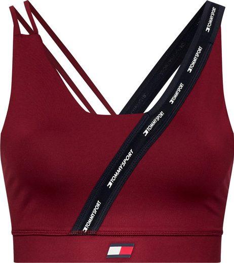 TOMMY SPORT Bustier »LOW SUPPORT TAPE BRA« mit modischer Träervariante & Tommy Sport Logo-Flag