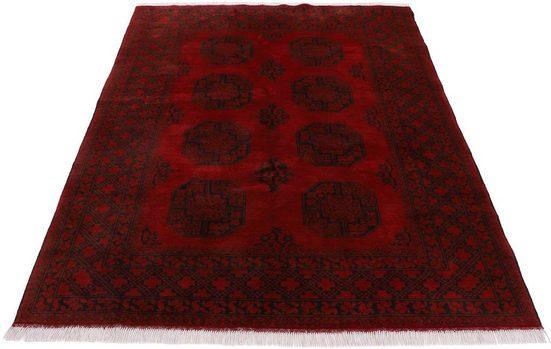 Orientteppich »Afghan Akhche«, Woven Arts, rechteckig, Höhe 10 mm, handgeknüpft, Wohnzimmer, reine Wolle