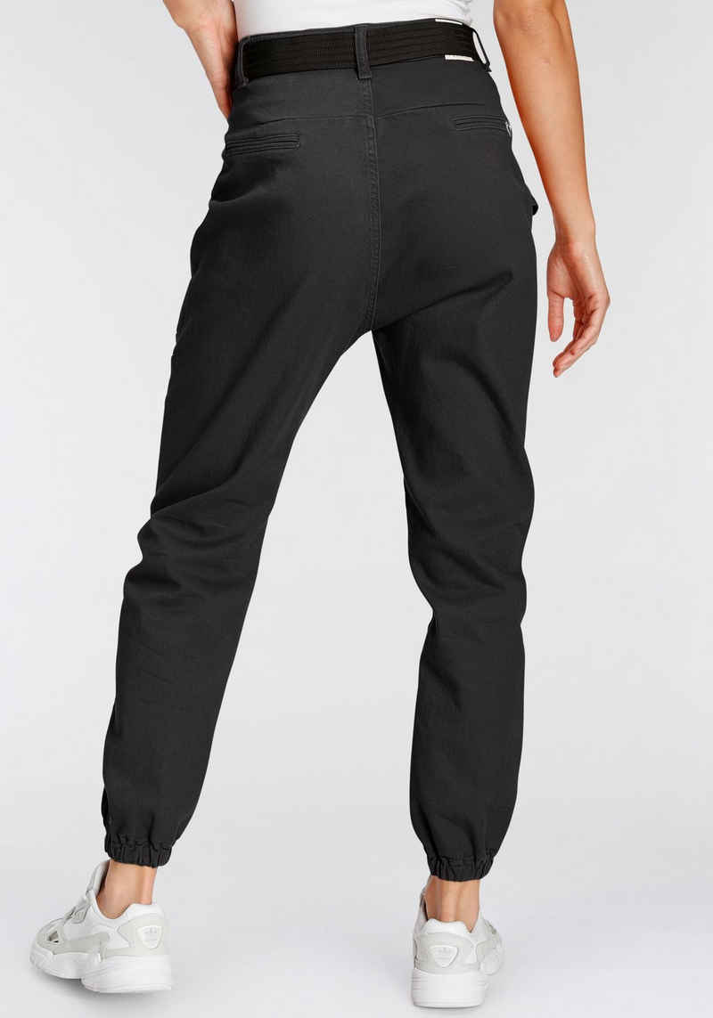 Please Jeans Cargohose »P 0QM« (2-tlg., mit abnehmbarem Gürtel) mit Gummizug-Saumabschluss