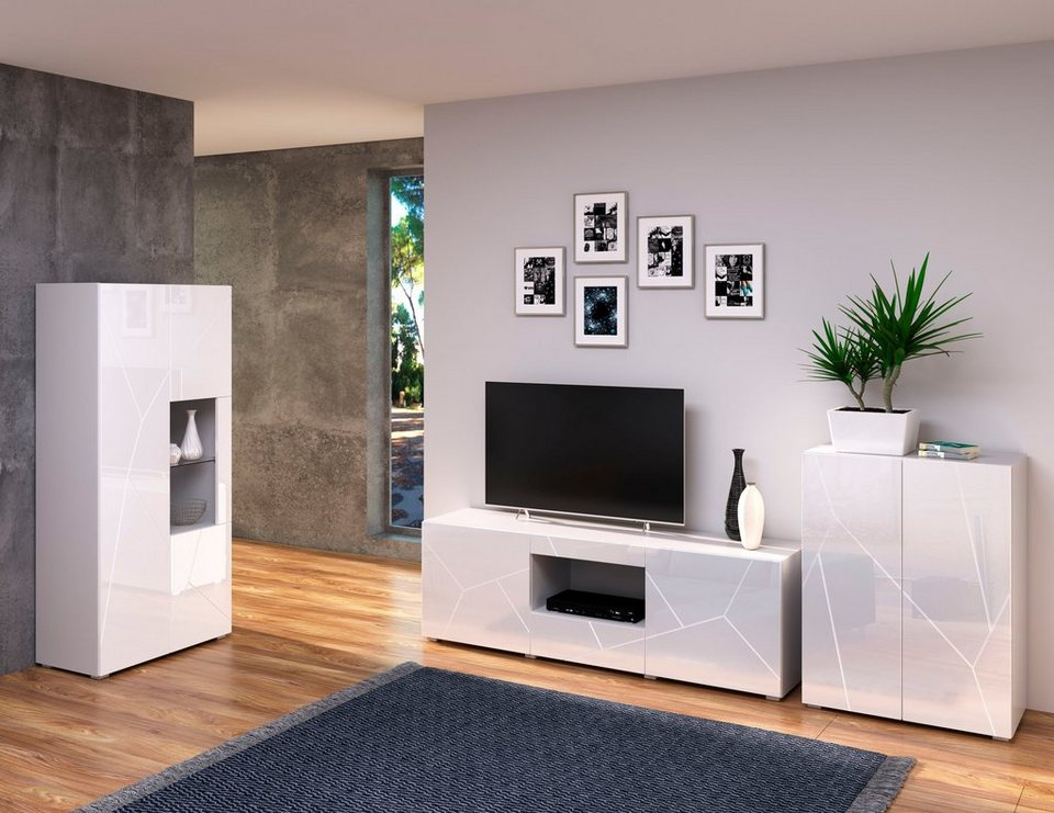 INOSIGN Wohnzimmer-Set »Annegret«, (10000-tlg., bestehend aus 1000 Highboard, 1000  TV-Lowboard und 1000 Vitrine) online kaufen  OTTO
