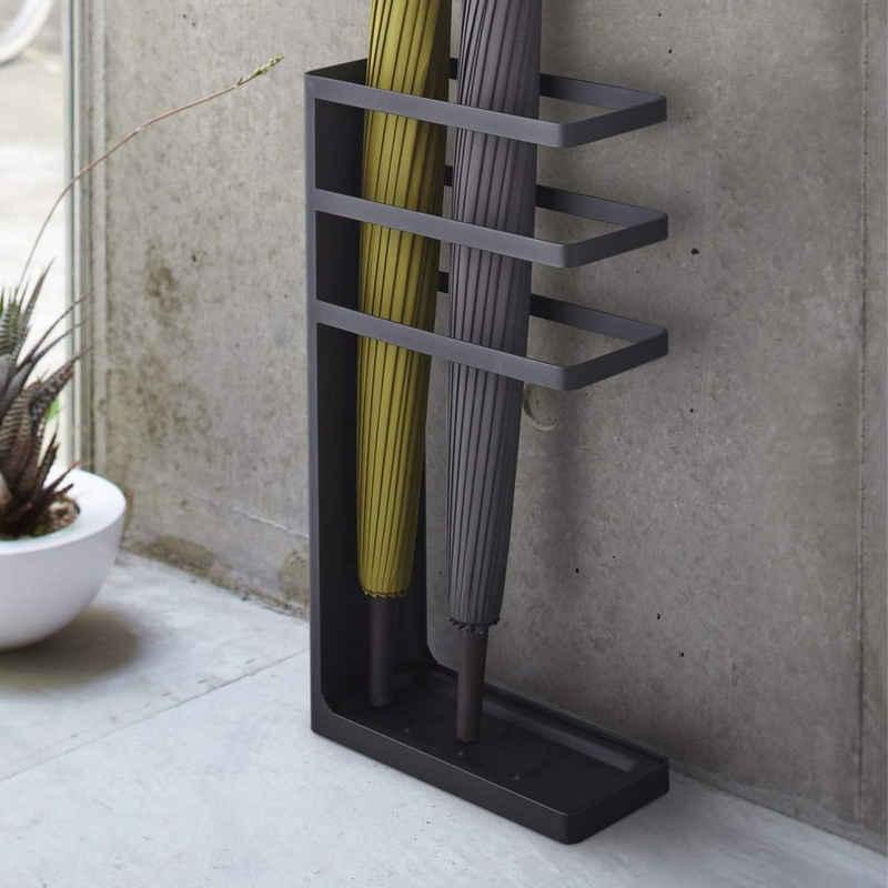 Yamazaki Schirmständer »Layer«, Schirmhalter, schmal, für Regenschirme, aus Metall, moderner Skandistil, schwarz