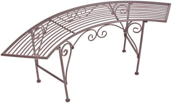 GARDEN PLEASURE Gartenbank »Romantik«, Stahl, 125x46x47 cm, rostfarben
