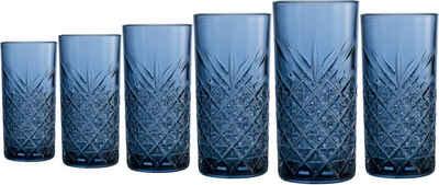 Home affaire Longdrinkglas »Dorum«, Glas, durchgefärbtes Glas mit dekorativer Struktur, 450 ml, 6-teilig