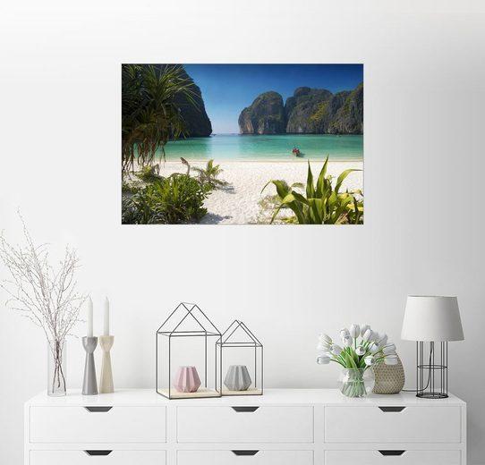 Posterlounge Wandbild, Weißer Strand in Thailand