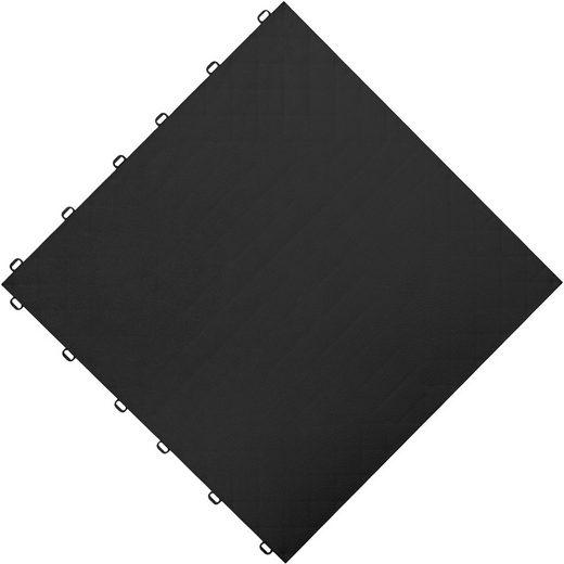 FLORCO Klick-Fliesen »floor«, 6 Stück á 40x40 cm, schwarz