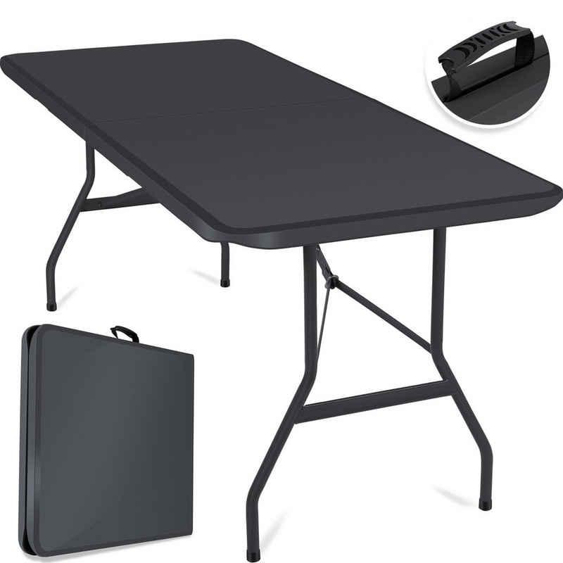 KESSER Tabletttisch, Tisch klappbar Kunststoff 183 cm Campingtisch Partytisch Klapptisch für Garten, Terrasse und Balkon 8 Personen inkl Tragegriff