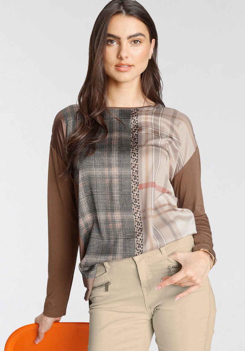GERRY WEBER Shirtbluse im Materialmix