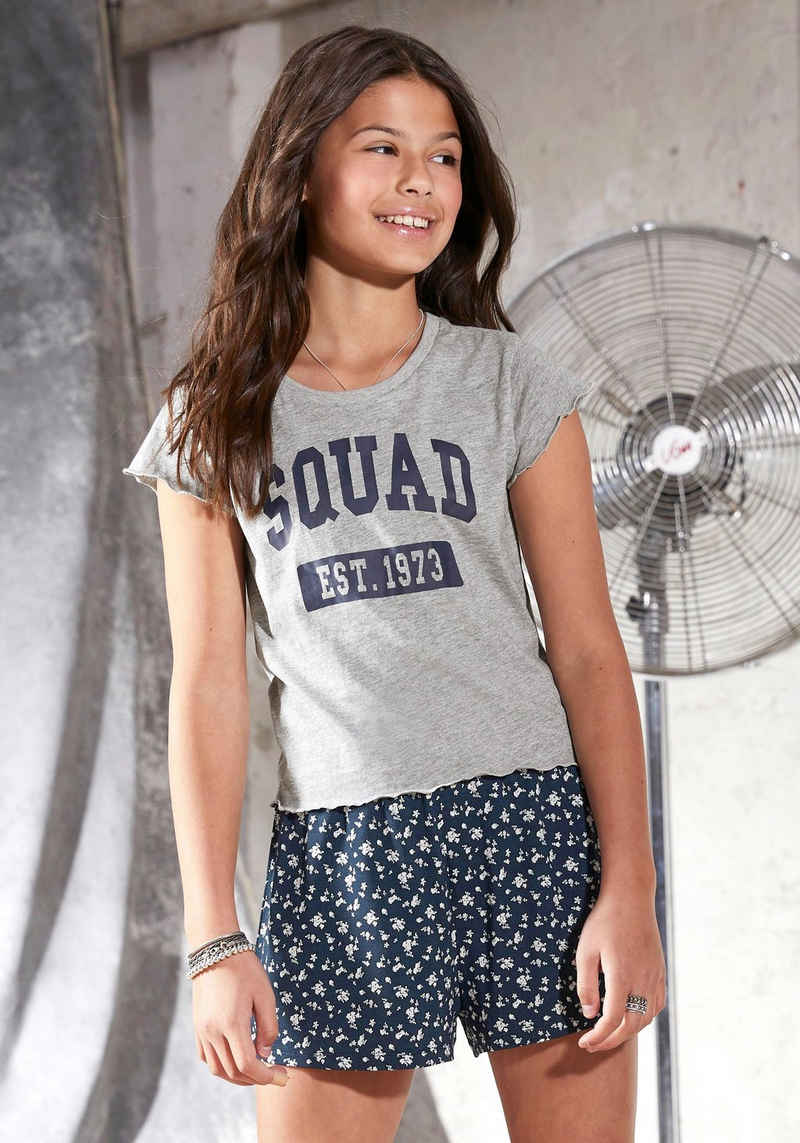 Arizona T-Shirt in kurzer kastiger Form