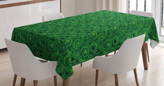 Abakuhaus Tischdecke »Personalisiert Farbfest Waschbar Für den Außen Bereich geeignet Klare Farben«, Abstract Green Irish Swirl Shamrock