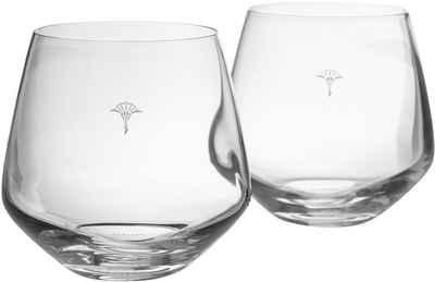 Joop! Tumbler-Glas »JOOP! SINGLE CORNFLOWER«, Kristallglas, mit einzelner Kornblume als Dekor, 2-teilig