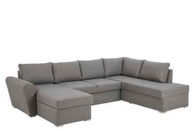 ebuy24 Sofa »Stan Schlafsofa Chaiselong links, lichtgrau.«