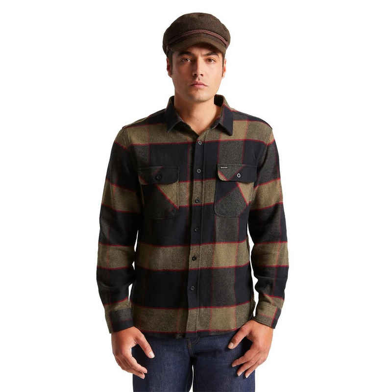 Brixton Langarmhemd »Bowery L/S Flannel - heather grey/charcoal«