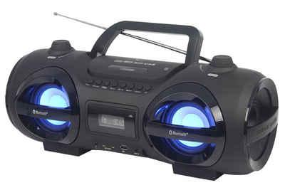 Reflexion »CDR900BT« Boombox (200 W, Tragbarer CD-Player, Ghettoblaster, Discolicht mit blinkender Modi-Auswahl, Bluetooth, MP3, CD, USB, SD, AUX-IN)