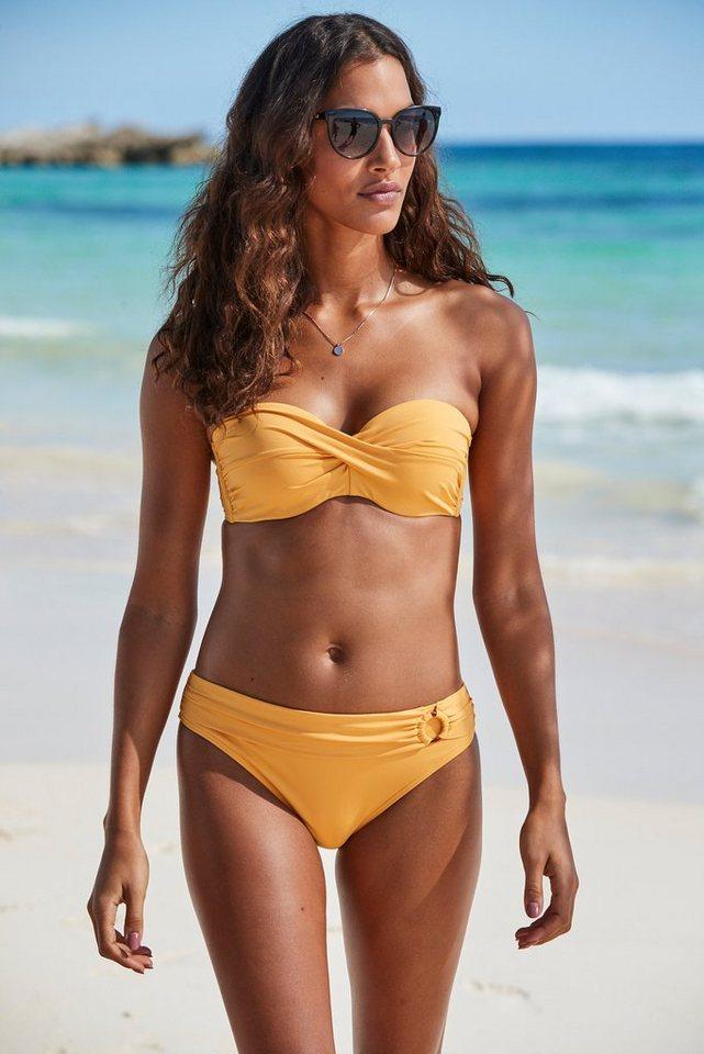 Bademode - s.Oliver Beachwear Bügel Bandeau Bikini Top »Rome«, in Wickeloptik › gelb  - Onlineshop OTTO
